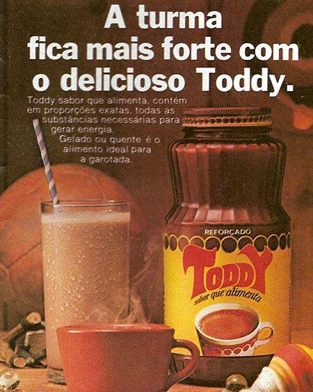 Propaganda antiga do Toddy nos anos 70 em época que o achocolatado era comercializado em embalagem de vidro
