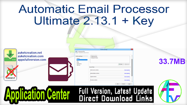 Automatic Email Processor Ultimate 2.13.1 + Key