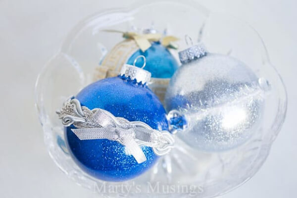 no-mess glitter ornaments