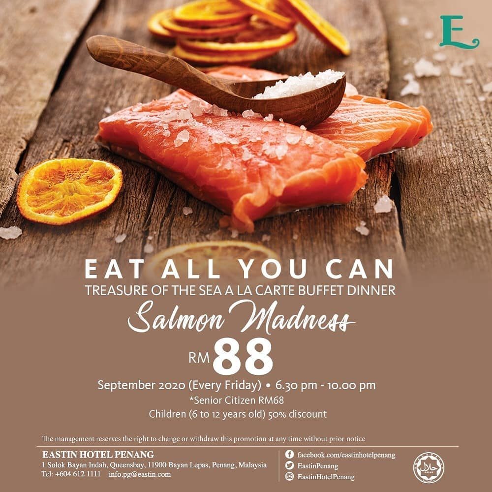Eat All You Can - Treasures of The Sea A-La Carte Buffet Dinner with Salmon Madness
