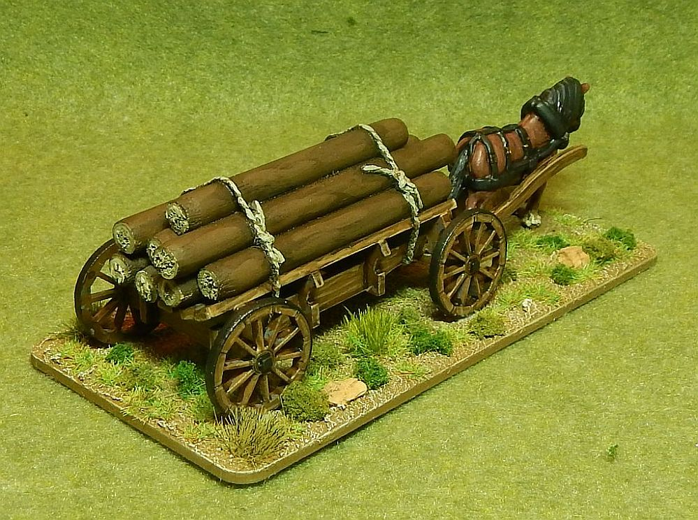 Colonial Ox drawn Wagon - also for far-west 3 wagons per box HAT 1:72