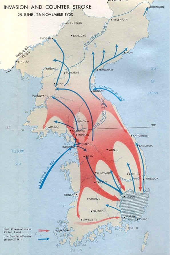 koreakriget karta KRIGSHISTORIA: september 2013 koreakriget karta