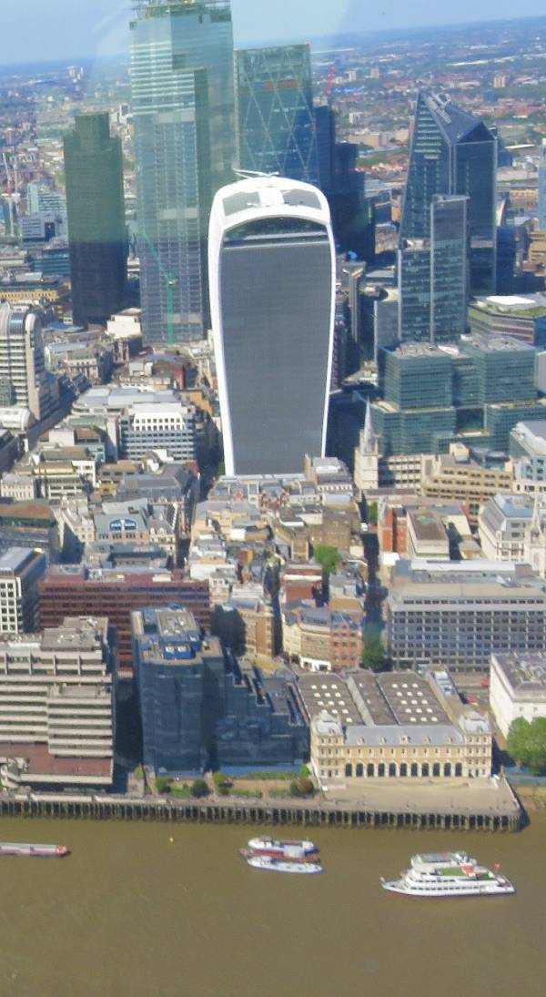 View of the Walkie Talkie Building from the Shard