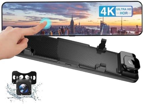 CAMECHO CAMECHO 4K Mirror Dash Cam for Cars