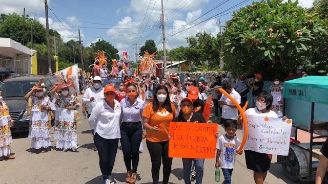 Domingo naranja con la fuerza de las mujeres en Movimiento Ciudadano