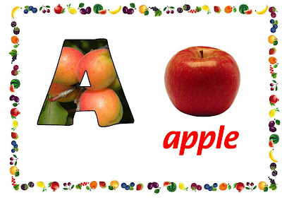 free printable alphabet flashcard, letter A