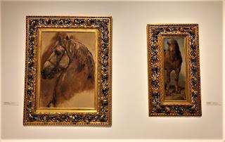 Łeb siwego konia i Studium konia gniadego