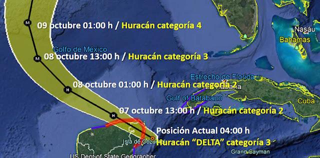 Delta se aleja, apenas rozará Tizimín y saldrá detrás de Río Lagartos