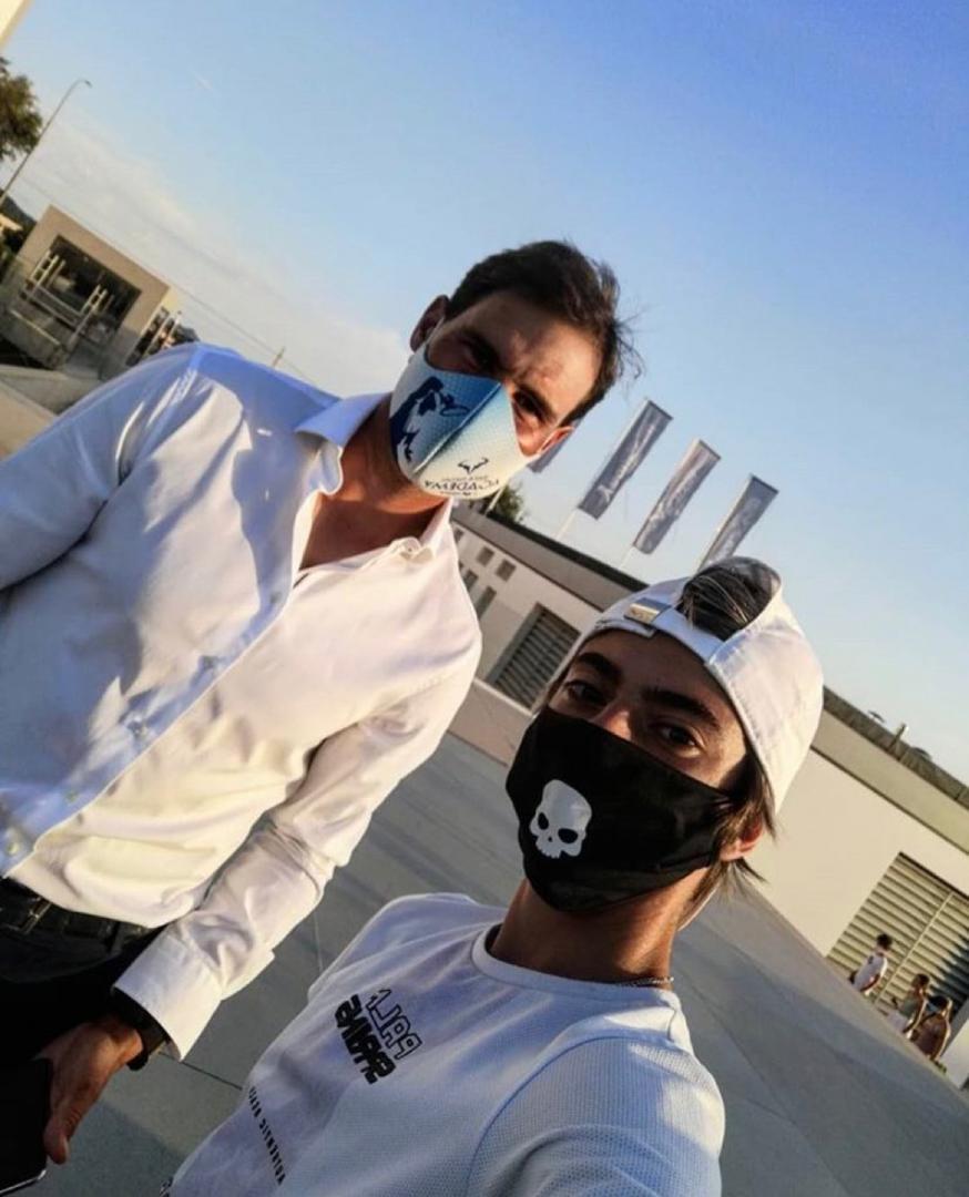 Hcfoo S Tennis Blog At Hcfoo Asia Where To Get Rafael Nadal S Face Mask Kia Nadal Partnership Extended Till 2025