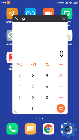 Kalkulator w oknie pop up