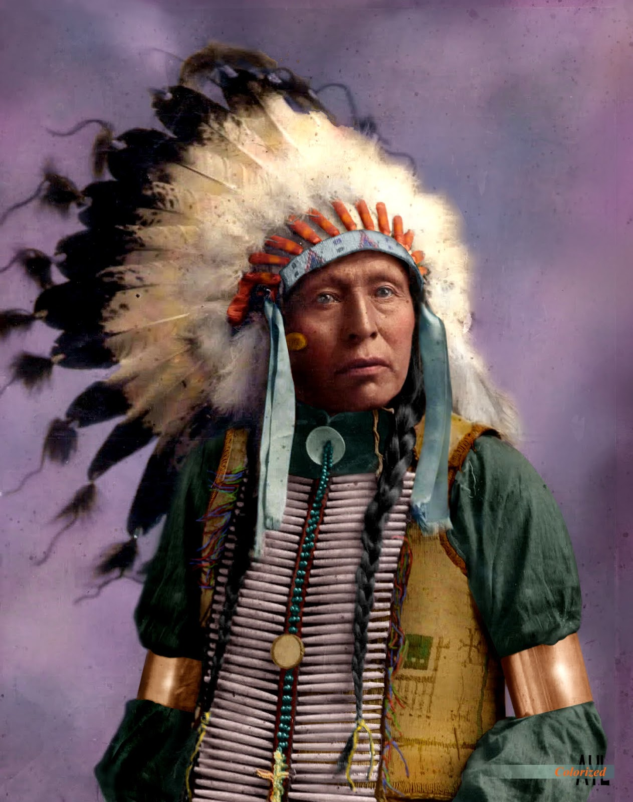 Colors For A Bygone Era Colorized American Native Indian