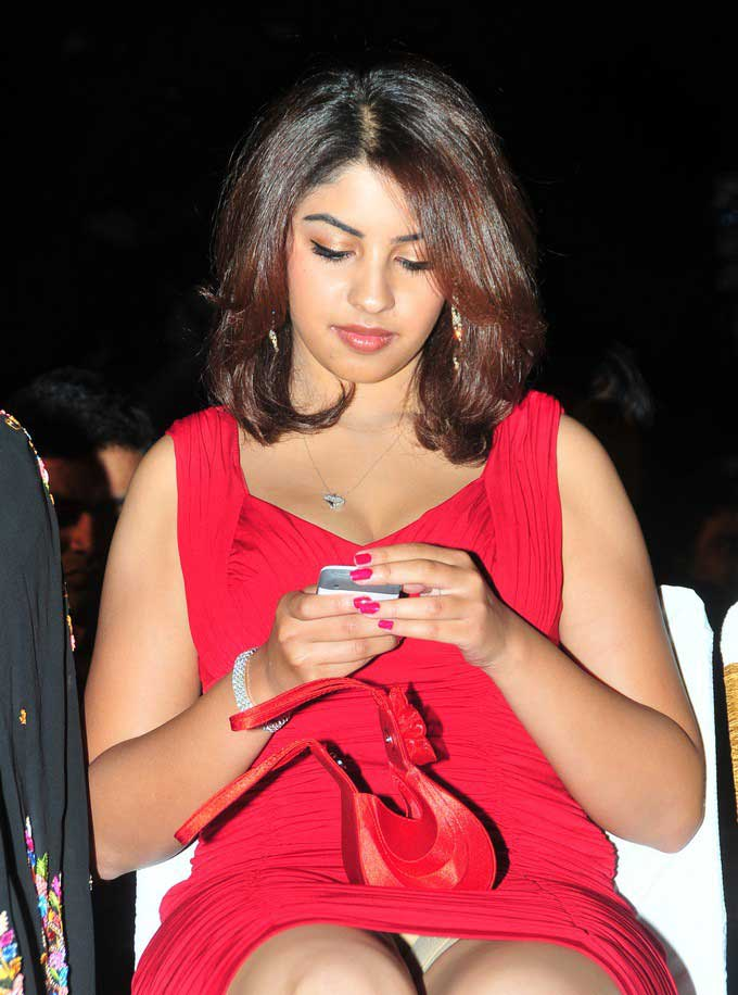 Richa Gangopadhyay Thigh Photos In Red Dress