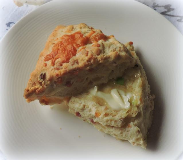 Cheese, Spring Onion & Bacon Scones