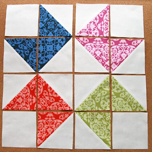 Ribbon Star Quilt Block - Tutorial
