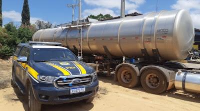 Seabra/BA: Carga de combustível avaliada em quase R$100.000,00 é apreendida pela PRF transportada sem nota fiscal