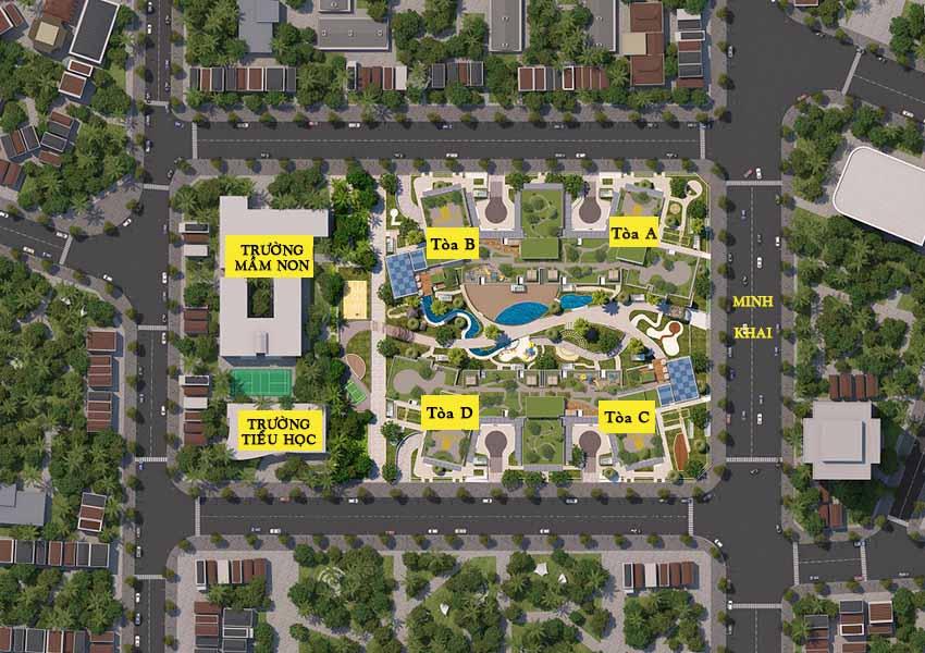 Quy hoạch chung cư 423 Minh Khai