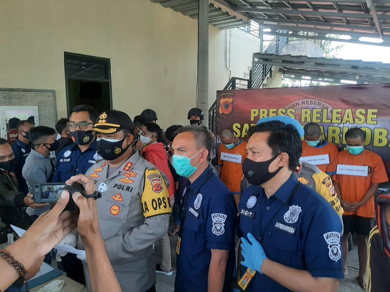 Enam Bandar Narkoba Ditangkap Polisi Cianjur, 1 Pelaku Berstatus Pelajar SMK