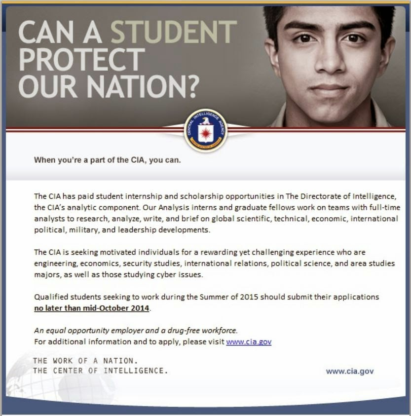 UMD GVPT E-News: CIA Summer 2015 Internship Opportunity