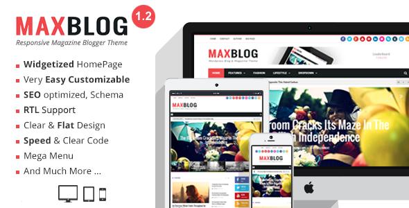 MaxBlog - Responsive Magazine Blogger Theme