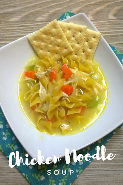 Homemade Chicken Noodle Soup with Egg Noodles