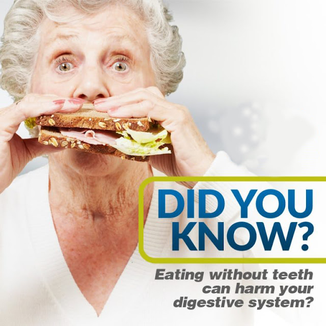 eating without teeth affect digestive system