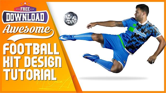 Awesome Football Kit Design Tutorial + Free Yellow Image Mockup Download by M Qasim Ali