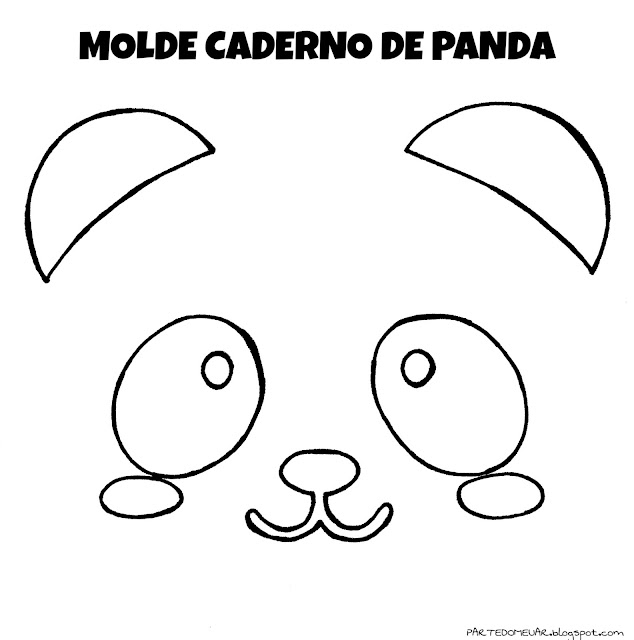 Molde caderno panda
