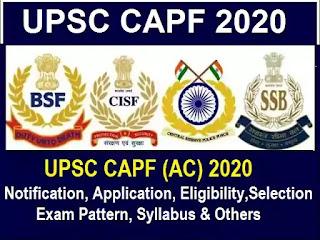 upsc assistant Commandant Exam 2020