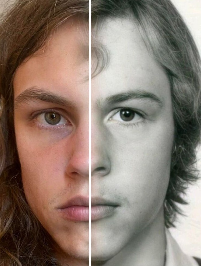 23 Photos that show the incredible power of genetics, Family DNA, Faces are repeat in different Generations, The power of genetics