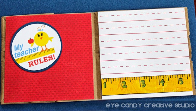 lined paper, my teacher rules, teacher gift cards, cardstock, ruler