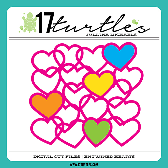 Entwined Hearts Free Digital Cut File by Juliana Michaels 17turtles