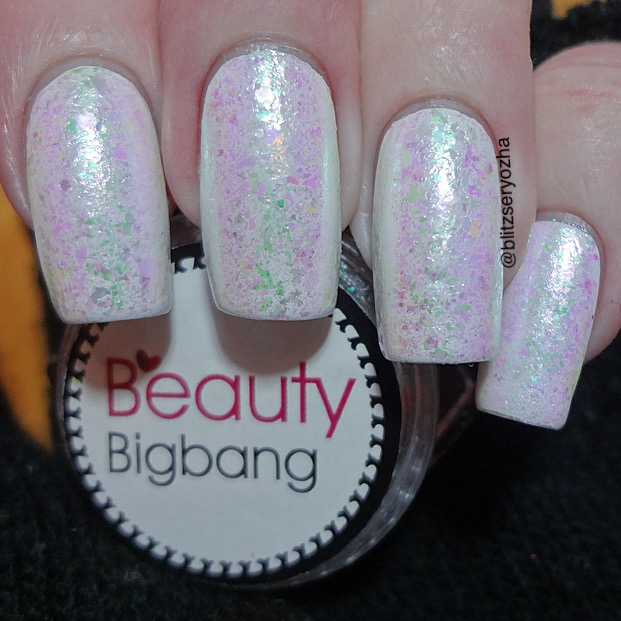 A swatch photo of Beauty Bigbang, Iridescent Chameleon Flakes, J2443-12A