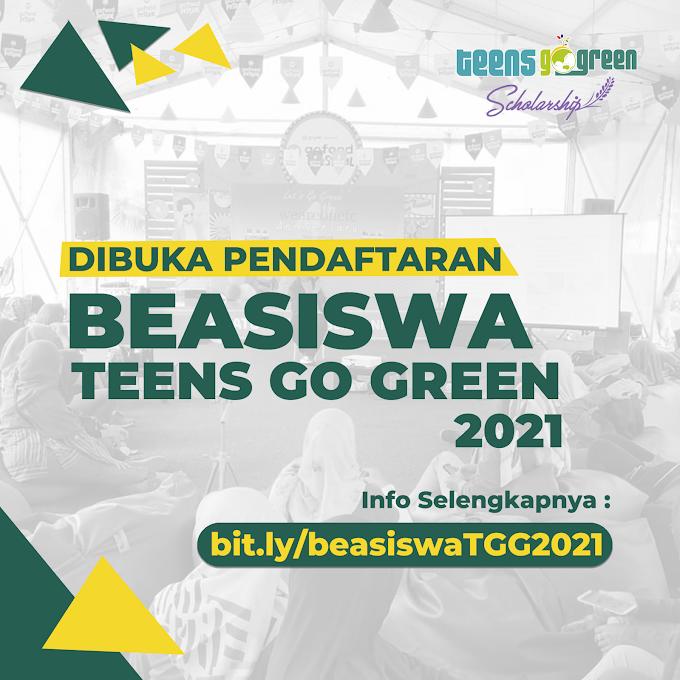Dibuka Pendaftaran Beasiswa Teens Go Green 2021