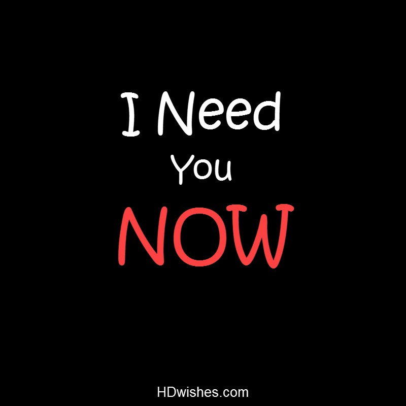 I Need You Now Black DP
