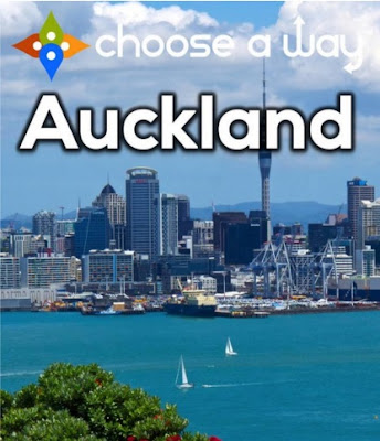 "Traveling to New Zealand? Then grab a copy of Choose A Way Auckland, a travel guide whose interactive style gives new meaning to the term ""choose your own adventure."""