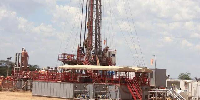 Tullow Oil rig in Turkana, Kenya