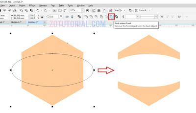 5 Cara Memotong Objek di CorelDRAW dengan Trim, Intersect, Simplify, Front Minus Back, Back Minus Front