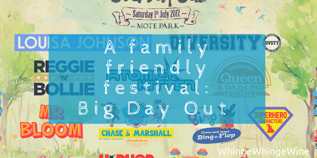 A family friendly festival: Big Day Out in Mote Park, Maidstone, Kent 1st July 2017