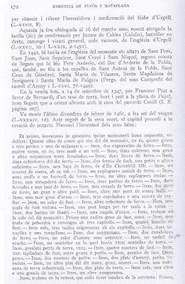 Documento del pavorde Conill