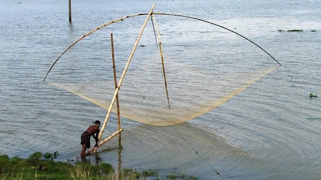شباك صيد الاسماك و اشكالها و مهامها