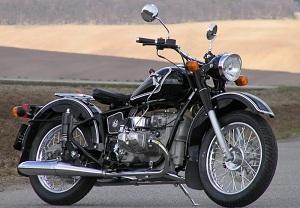 a nice Retro Solo Ural motorcycle