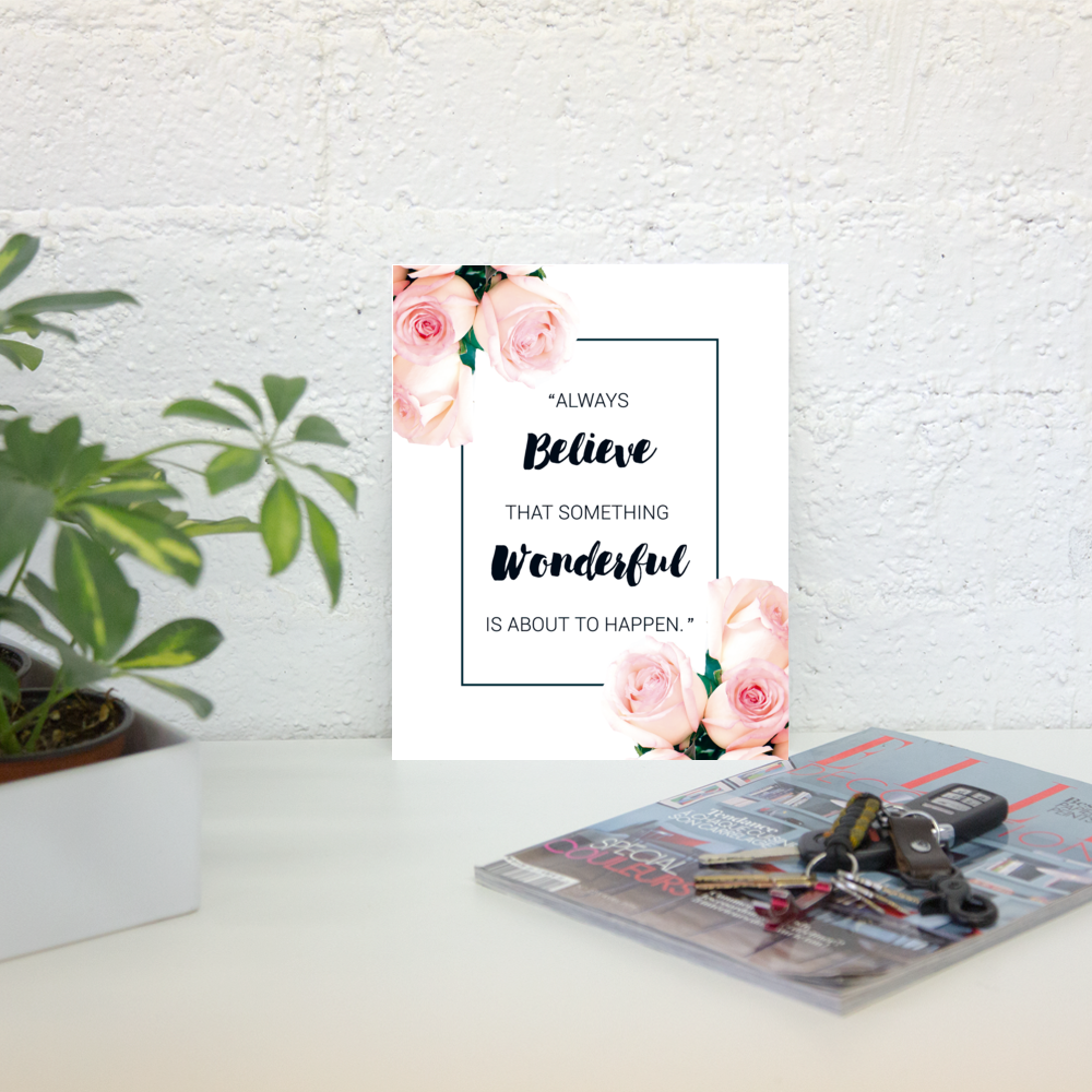 Blog anniversary // Free printable and wallpaper - desktop wallpaper, free, download, freebie, decor, prints, home decor, wall paintings, wall decor, anniversary, blog, 1 year old, celebration, free download, pink decor, flowers, inspiration, positivity, motivational