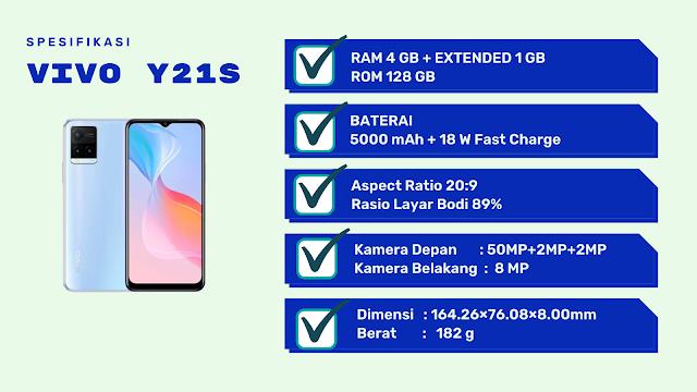 Spesifikasi Vivo Y21S