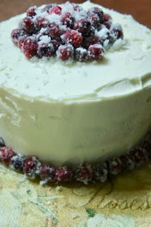 Sparkling Cranberry White Chocolate Cake: Savory Sweet and Satisfying