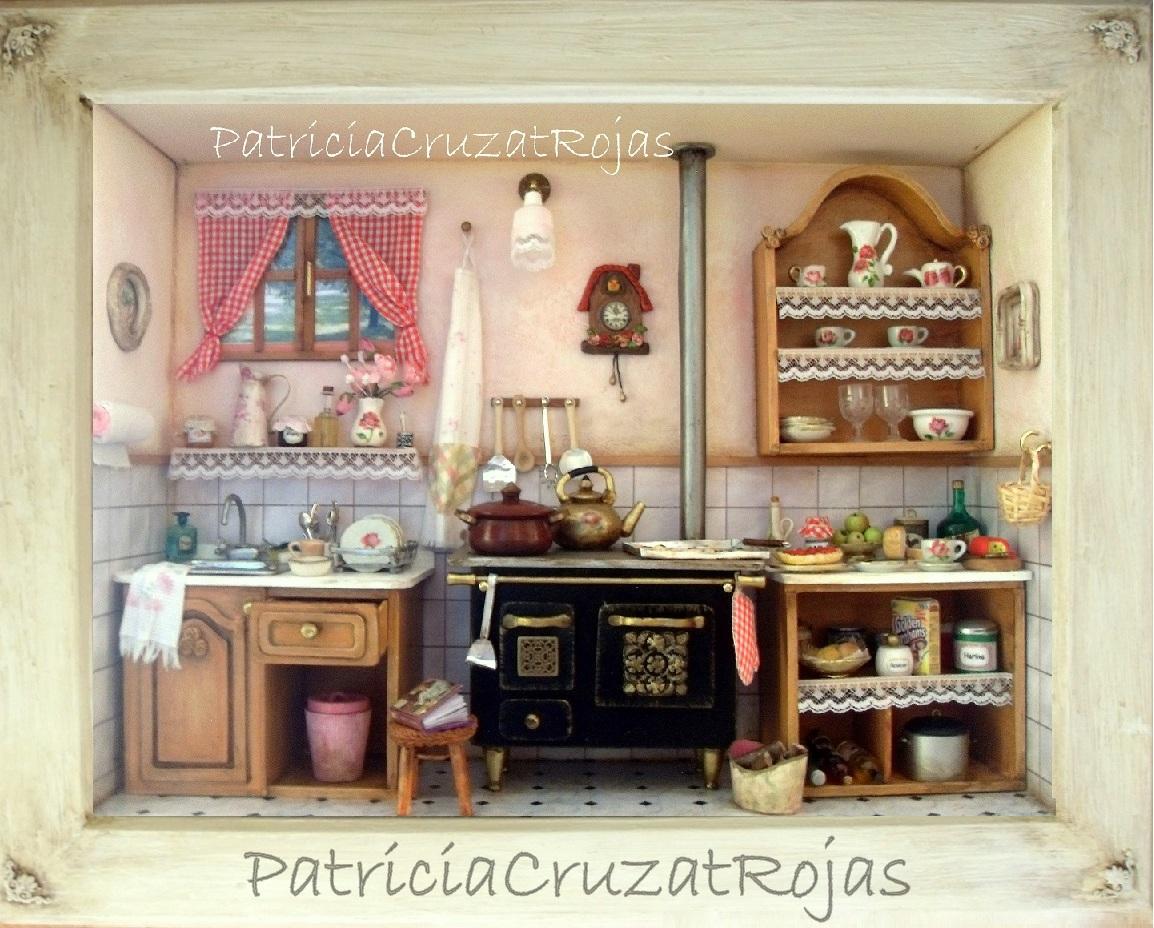 Patricia cruzat artesania y color cocina con miniaturas for Cocinas cocinas y algo mas