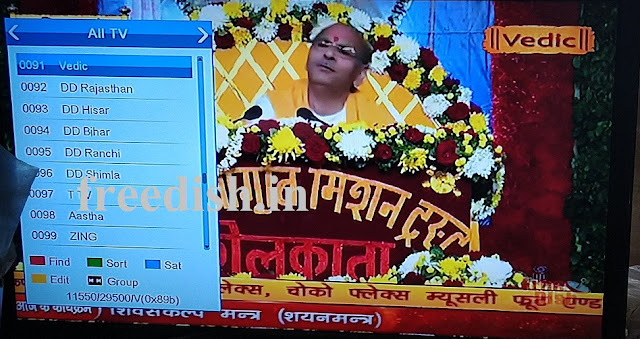 First Time, Vedic Channel added on DD Free dish DTH