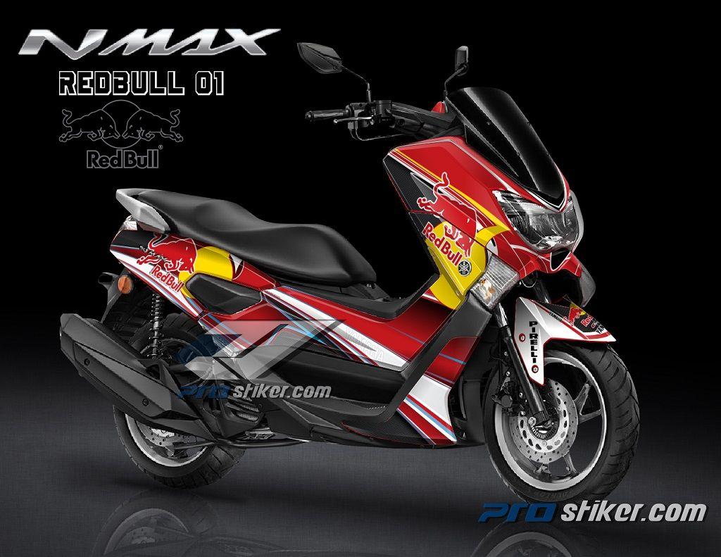 Striping Yamaha Nmax Modifikasi Full Body: Stiker