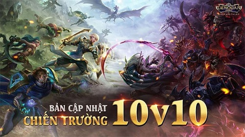 Bản đồ loạt game 10v10 có quy mô cao hơn nhiều so với loạt game 5v5 thông thường