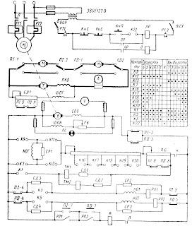 Схема электропривода брашпиля