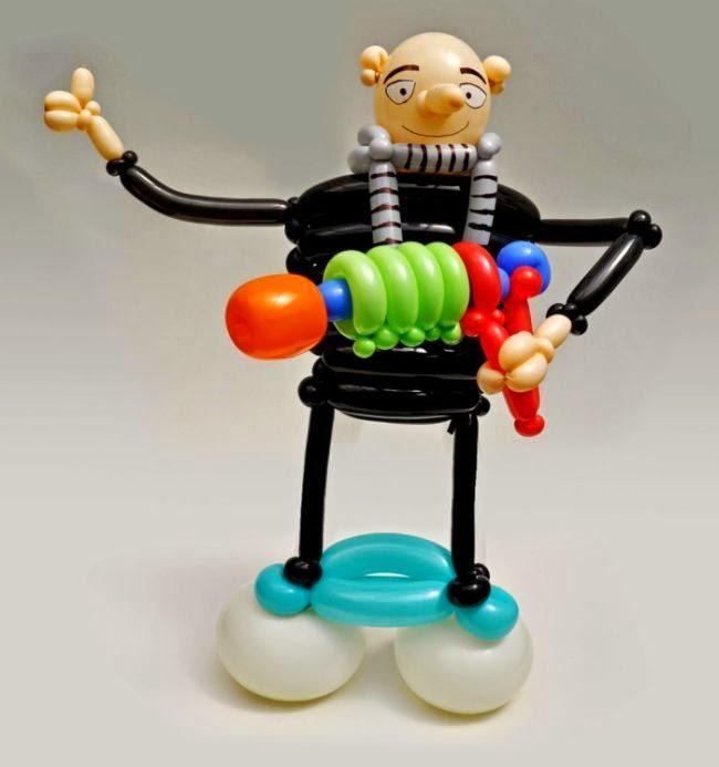 Arte y creatividad con globos mi villano favorito